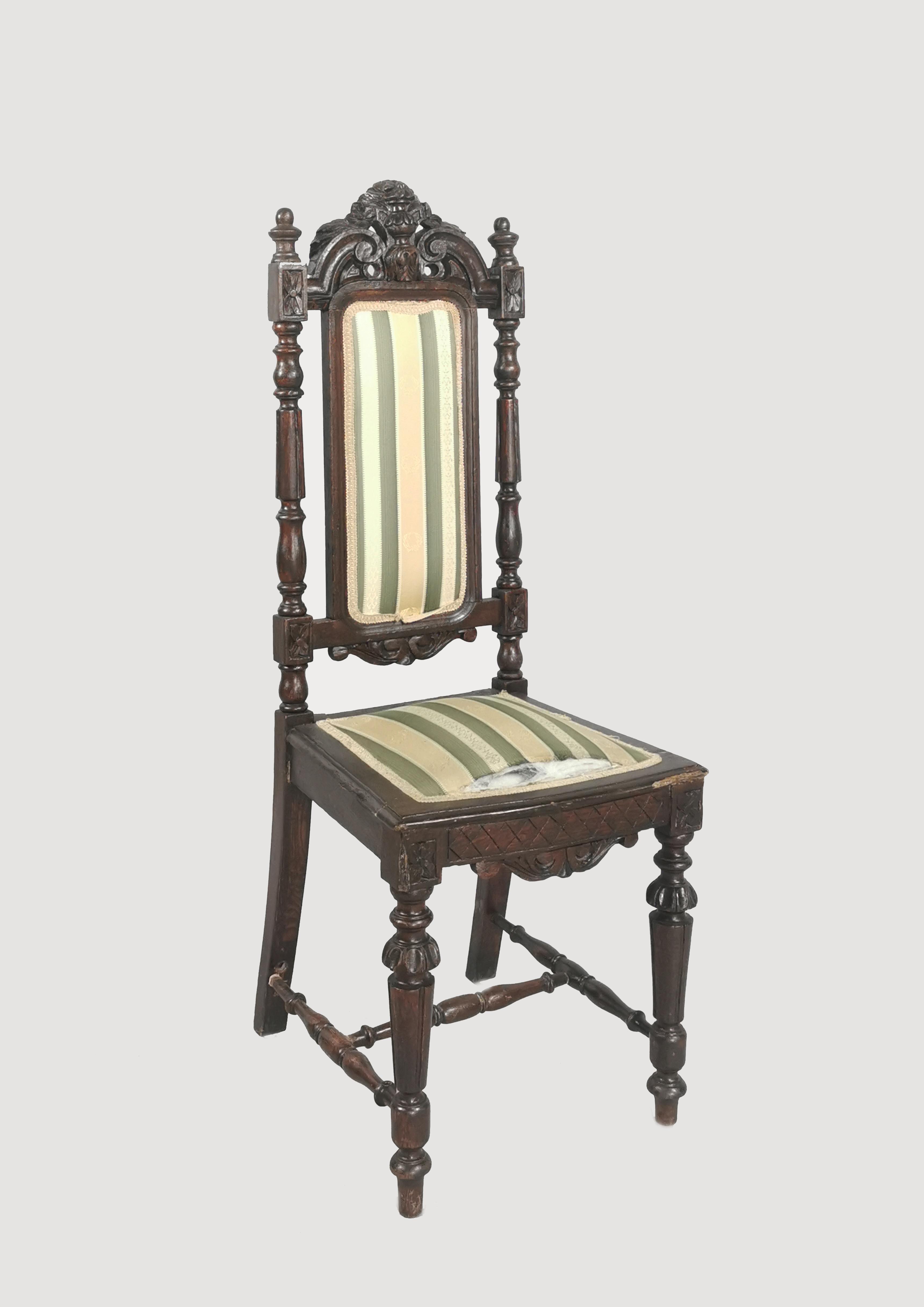 Krzesło eklektyczne wyściełane