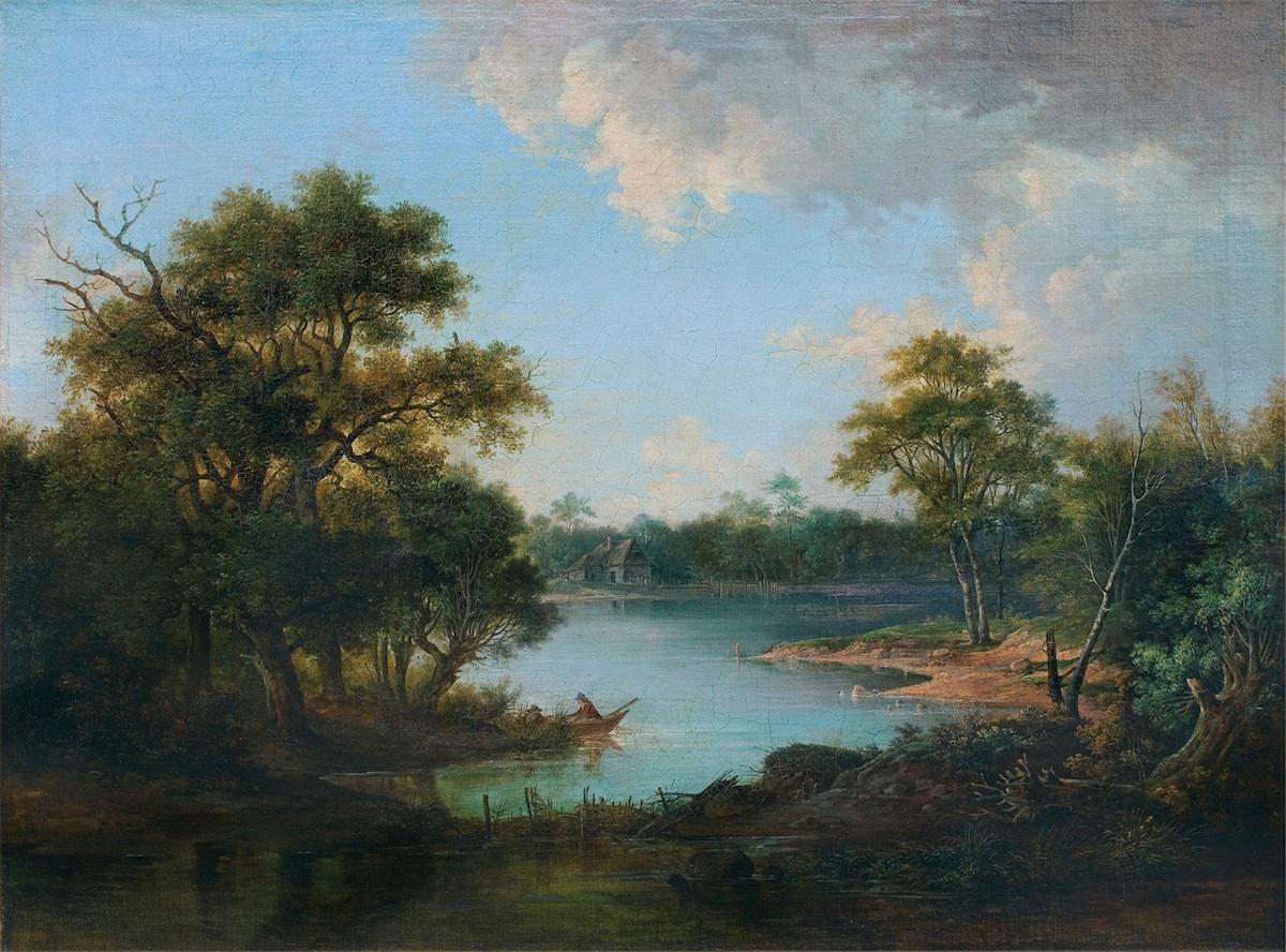 PEJZAŻ NADWODNY, 1856
