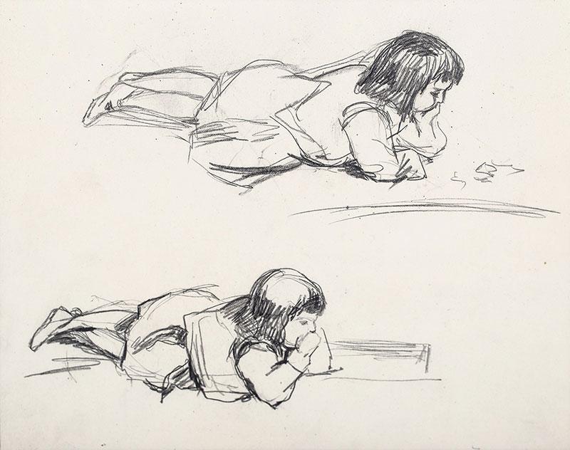 Studium leżącej dziewczynki
