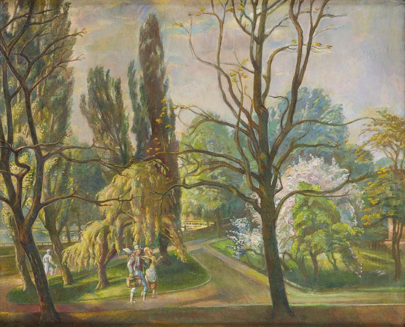 Park w Ciechocinku, około 1969-71 r.