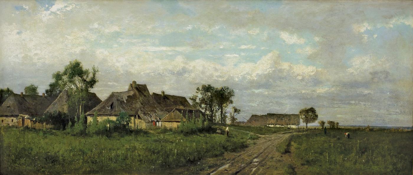 KRAJOBRAZ SPOD KRAKOWA, 1873
