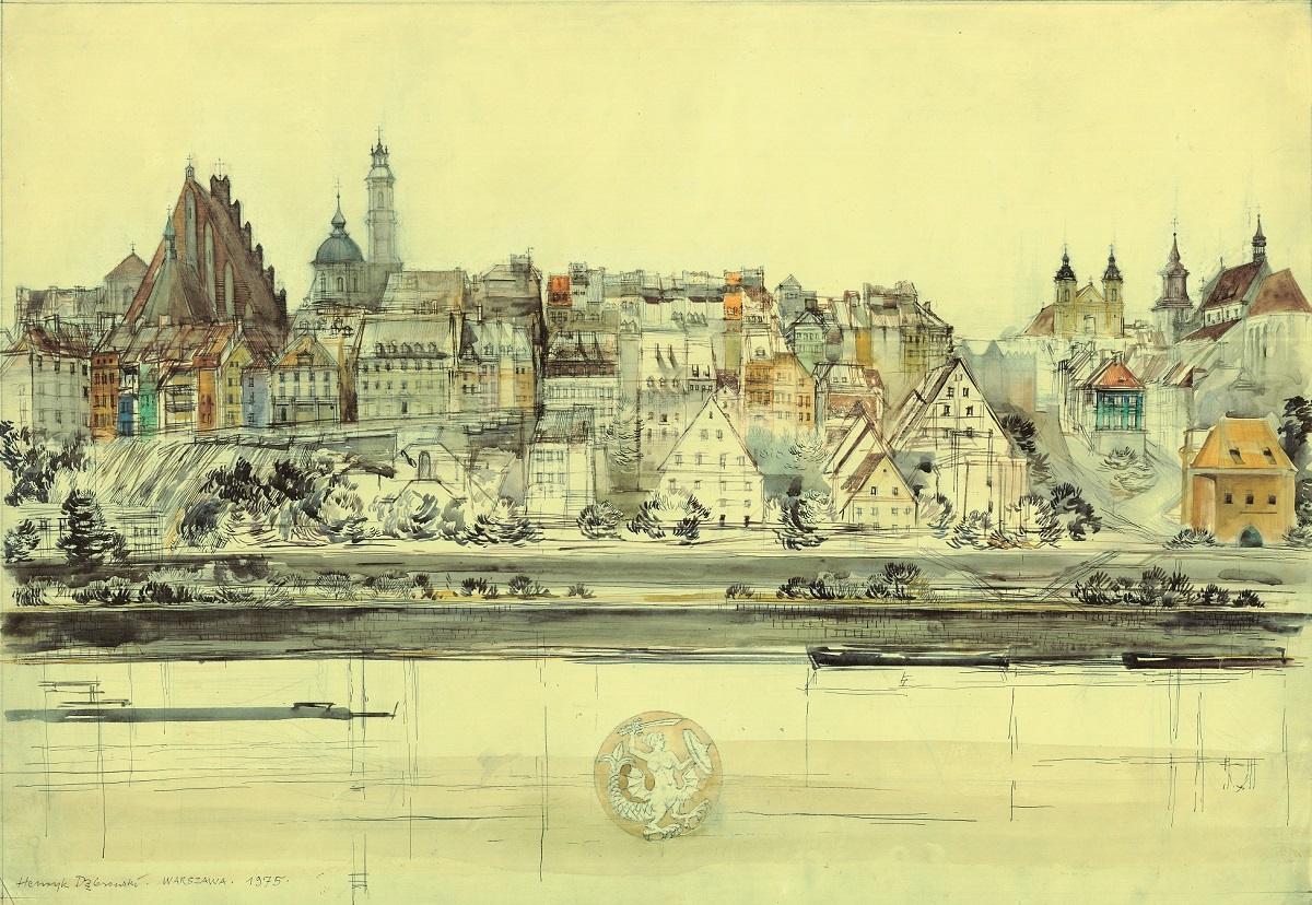 Warszawa - panorama Starego Miasta, 1975/2011