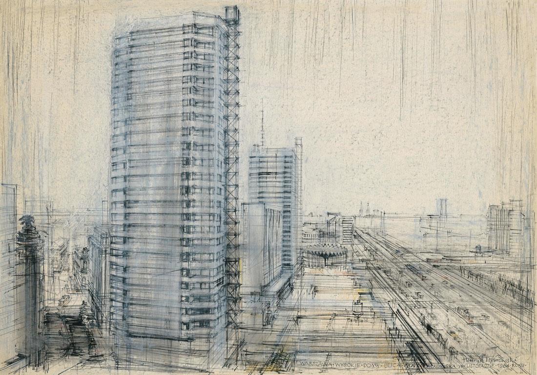 Warszawa - ul. Marszałkowska, Ściana Wschodnia, 1964/2011