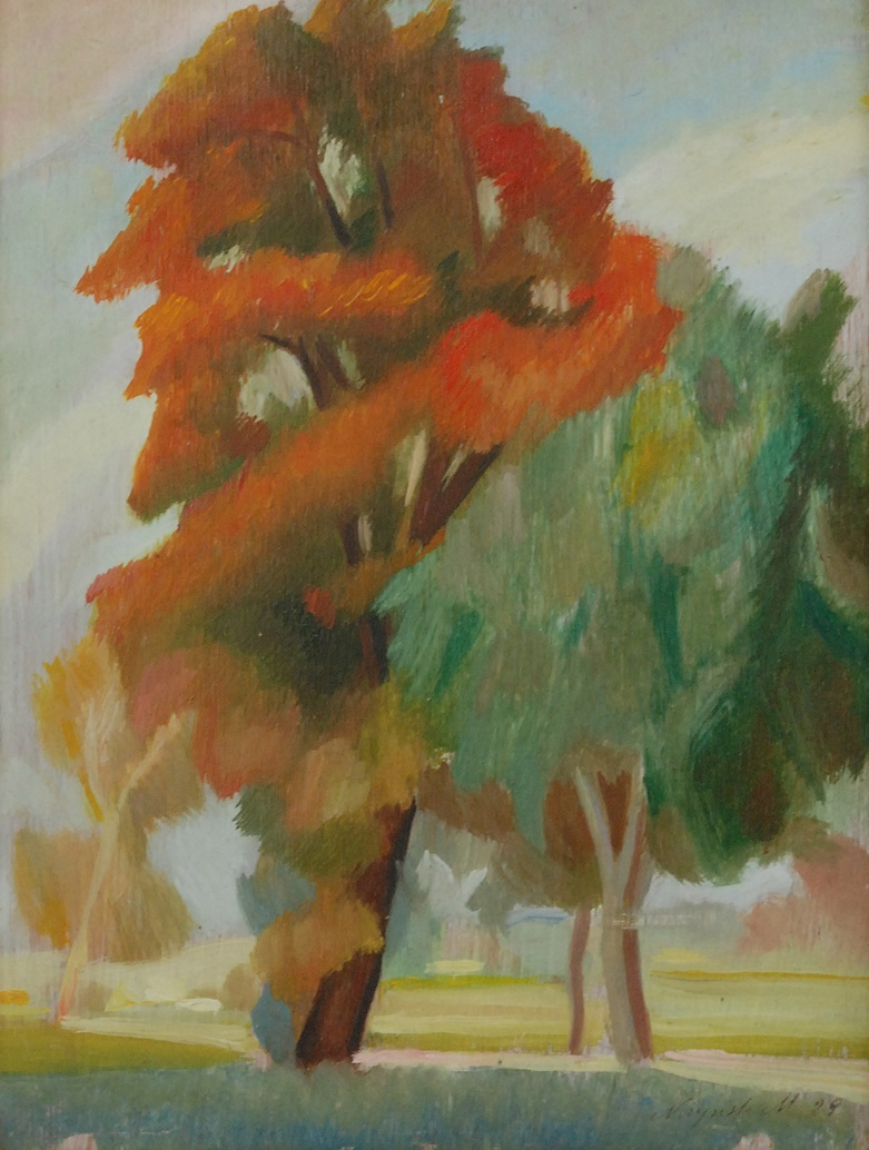 Jesienne drzewa, 1929