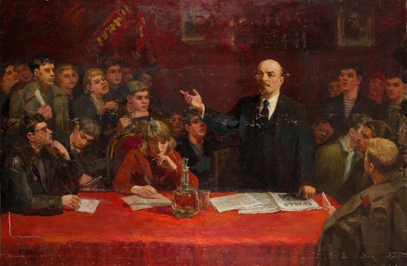 Włodzimierz Lenin przemawia na spotkaniu z młodzieżą, 1966 r.