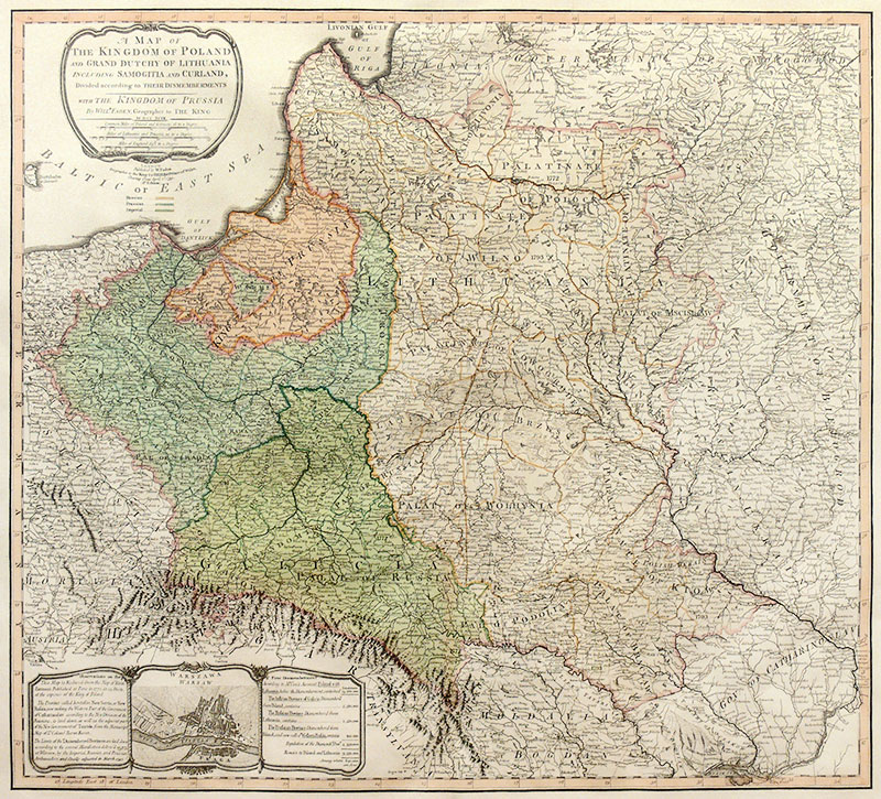 A map of the Kingdom of Poland and Grand Dutchy of Lithuania..