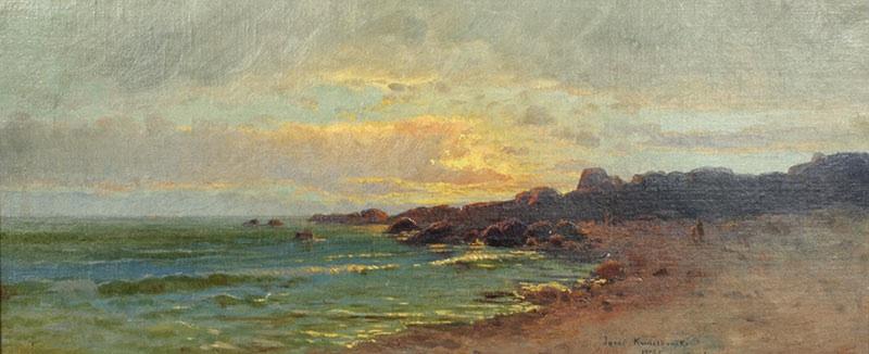 Morze o zachodzie słońca, 1909