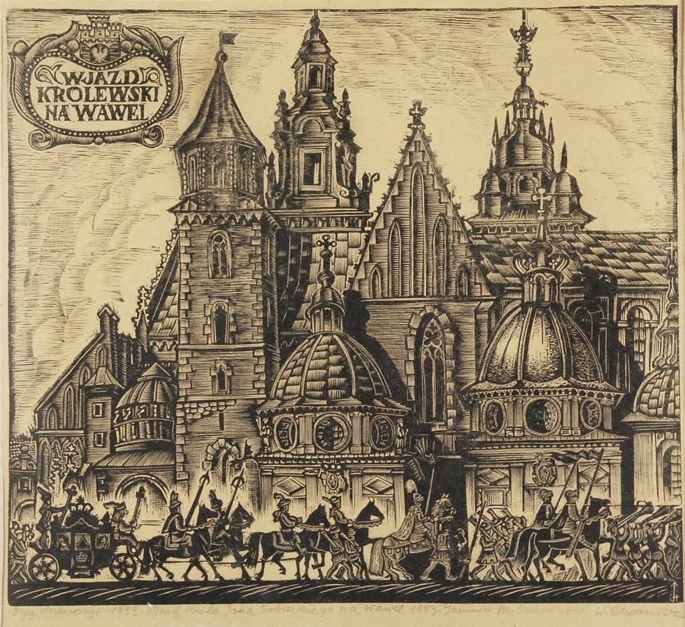 Wjazd Króla Jana Sobieskiego na Wawel w 1683, 1933