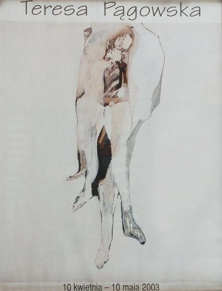 Plakat z wystawy: Teresa Pągowska.