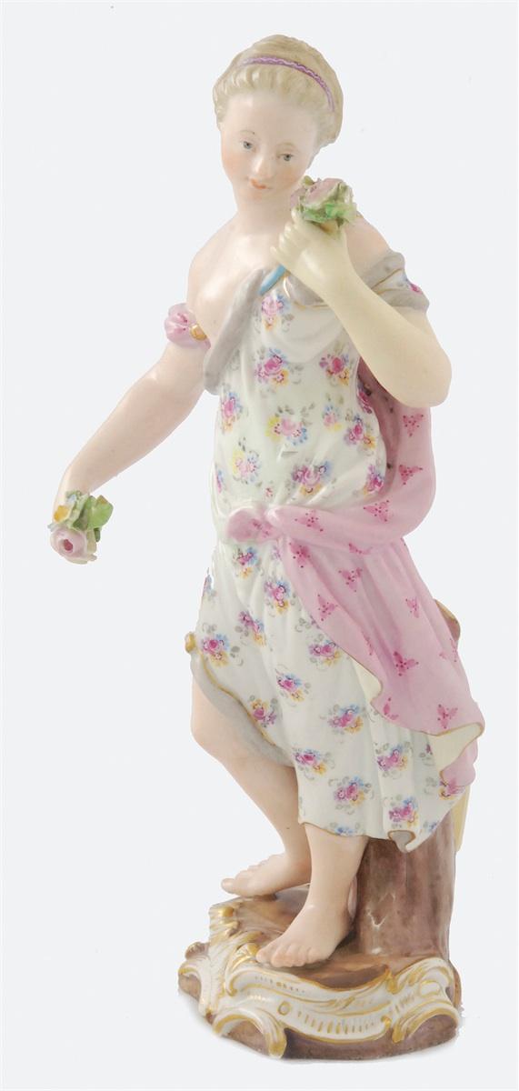 Dziewczyna z bukietami róż