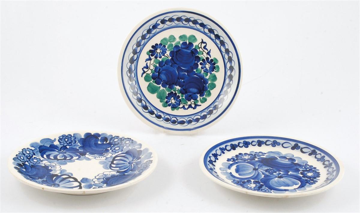 Zbiór talerzy dekoracyjnych - 3 sztuki
