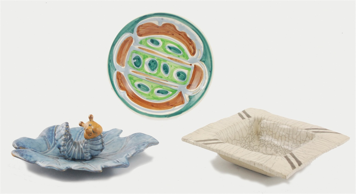 Zbiór naczyń dekoracyjnych - 3 sztuki