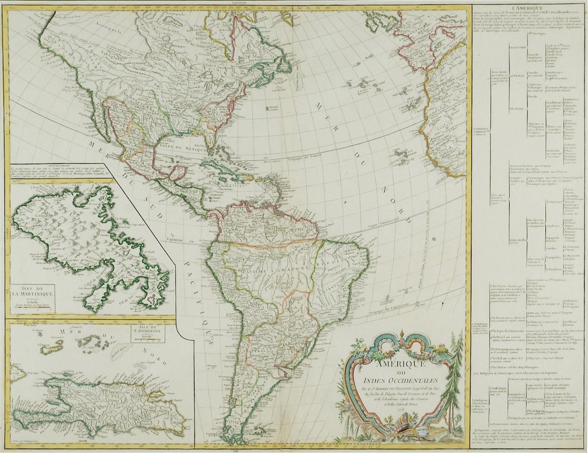Mapa Ameryki (Indii Zachodnich)