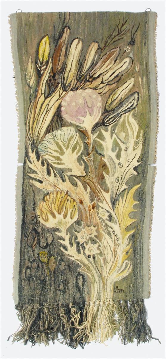 Kilim z motywem floralnym
