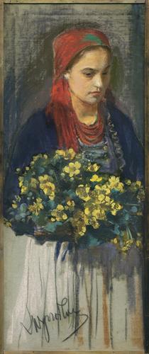 DZIEWCZYNA Z KACZEŃCAMI, ok. 1900