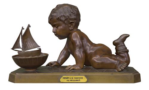 DZIECKO BAWIĄCE SIĘ STATECZKIEM (ENFANT A LA BARQUE)