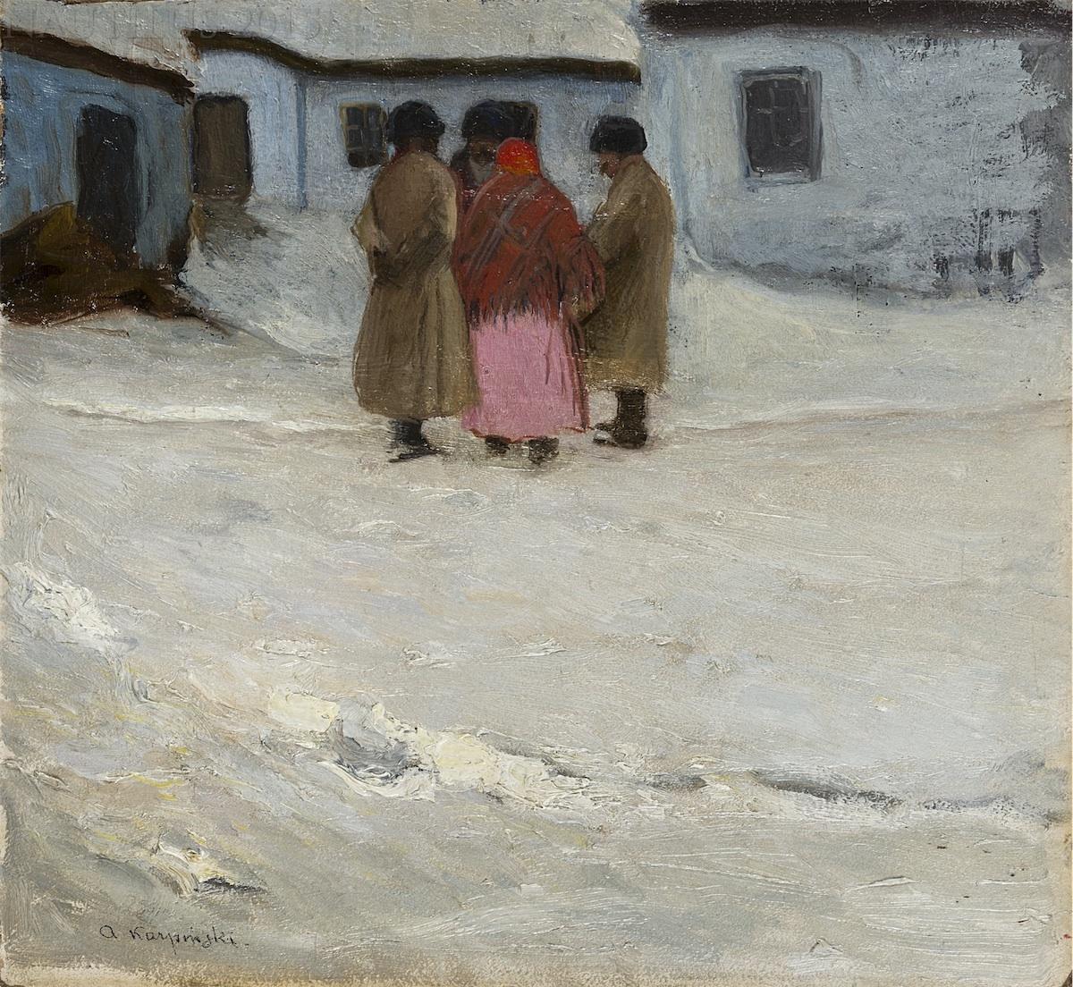 Spotkanie na wiejskiej drodze, ok. 1905