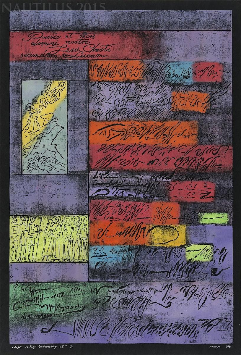 Zapis do Pasji Pendereckiego I-IV, 1967