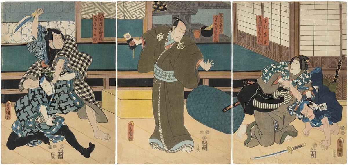 Yuranosuke, przywódca 47 roninów, 1852