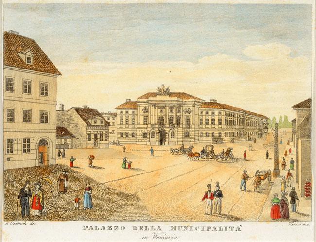 PALAZZO Della Municipalitá in VARSAVIA, 1831