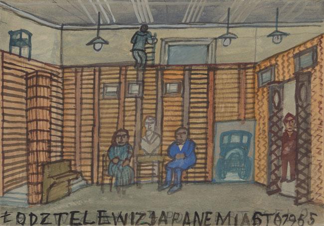NIKIFOR w TELEWIZJI ŁÓDZKIEJ, 1965