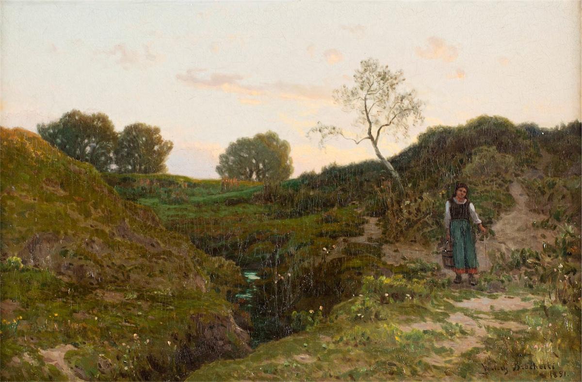 Na łąkach, 1891