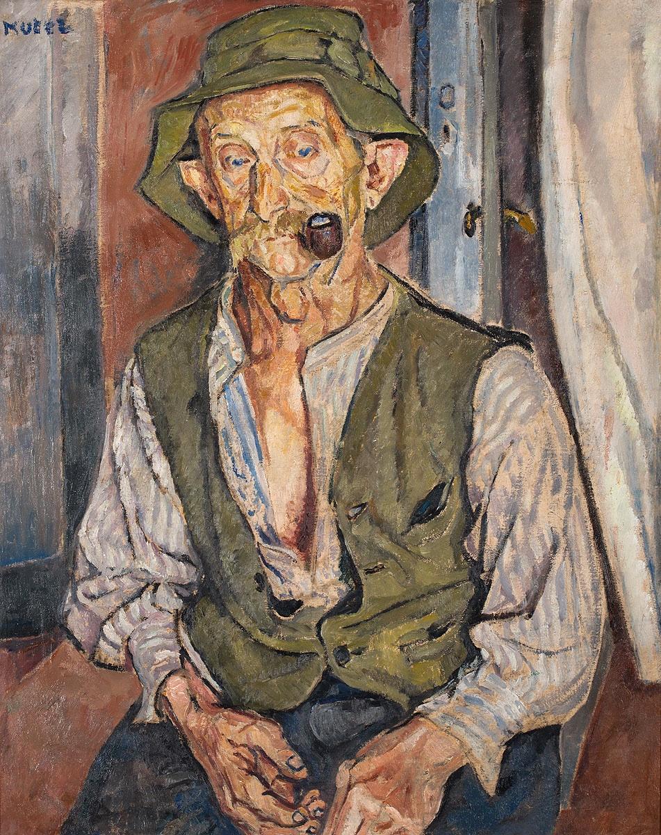 Portret mężczyzny z fajką, 1925
