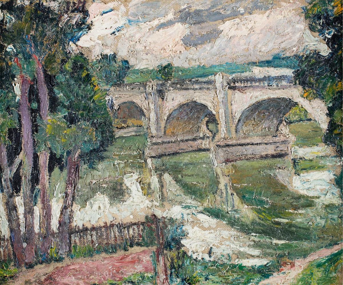 Pejzaż z mostem, ok. 1940