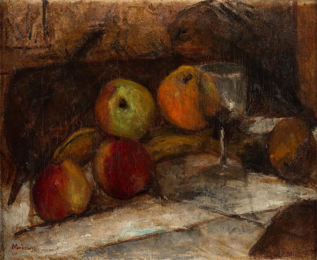 Martwa natura z kieliszkiem i jabłkami, ok. 1915