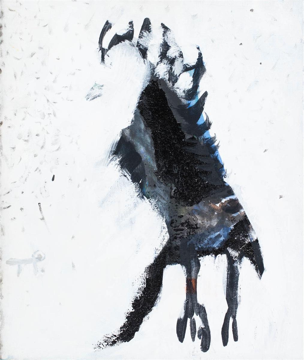 Zimowy ptak, z cyklu: Zwierzęta, 1996