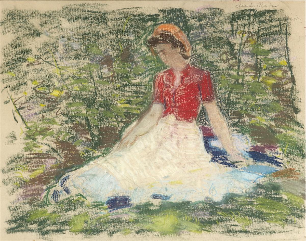 Kobieta siedzaca