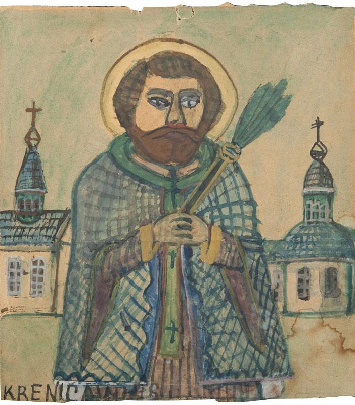Biskup z kropidłem