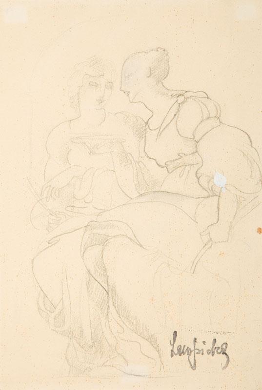 Siedzące kobiety, 1935 r.