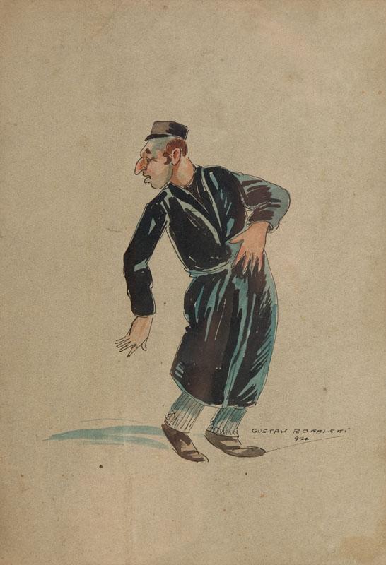 Mężczyzna w chałacie, 1927 r.