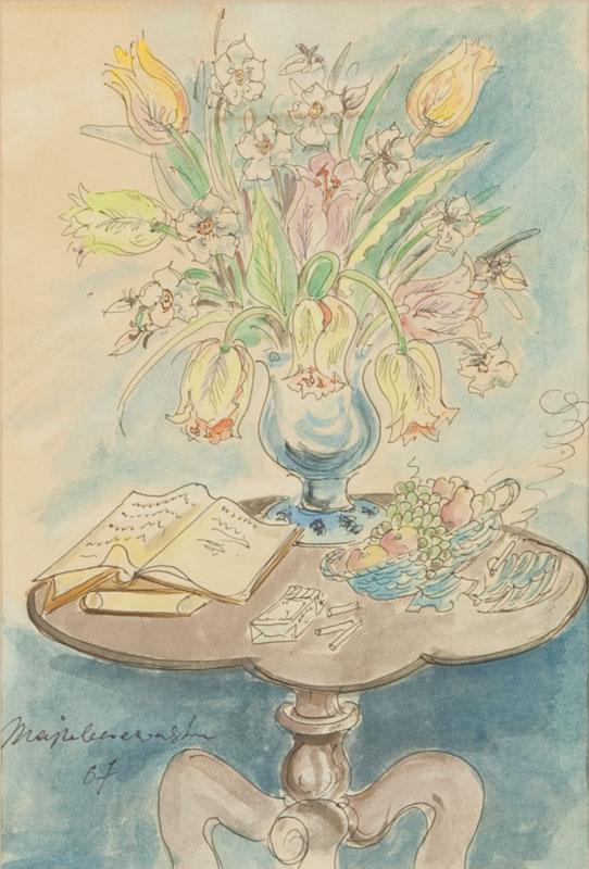 Stolik z bukietem kwiatów, 1967 r.