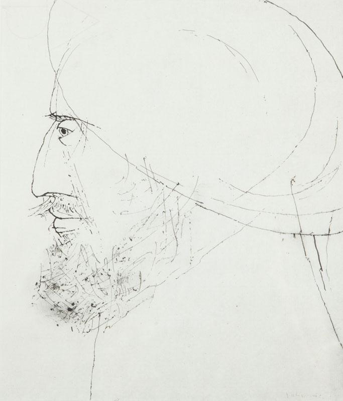 Portret mężczyzny z brodą