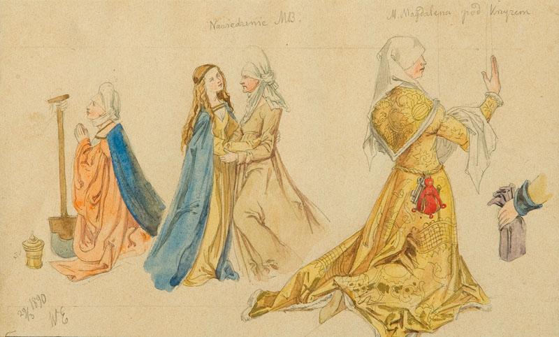 Scena Nawiedzenia oraz Maria Magdalena pod krzyżem, 1890 r.