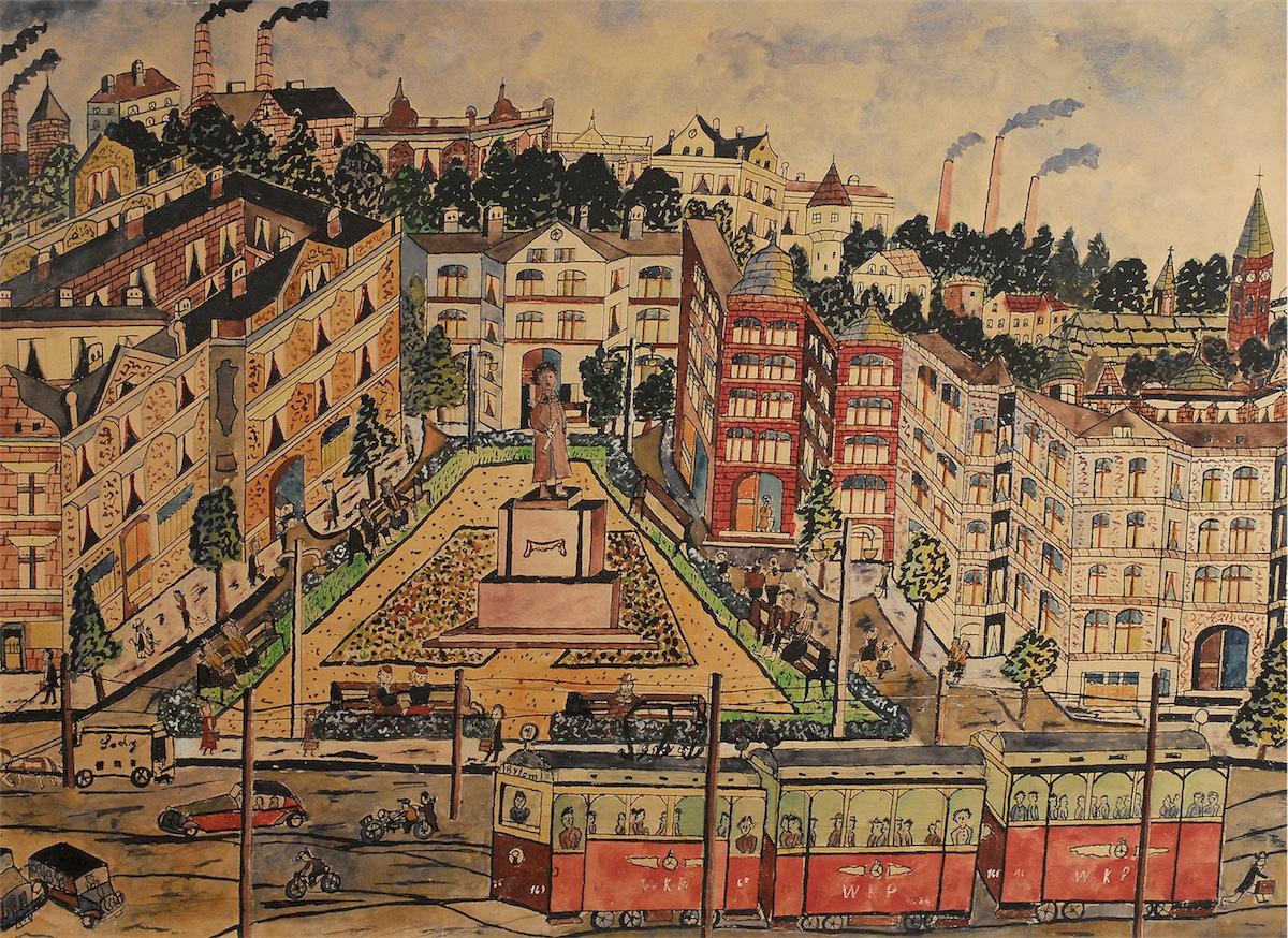 Pejzaż miejski, 1957