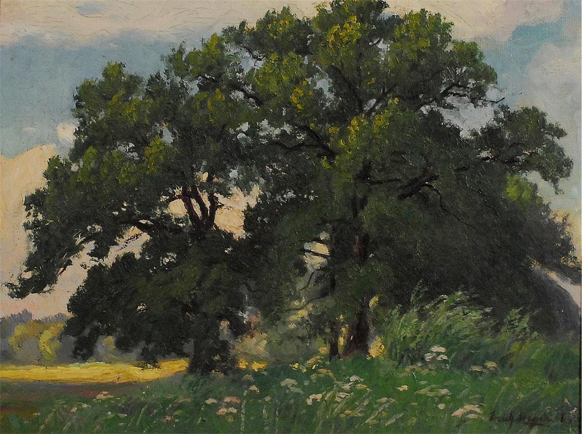 Pejzaż z kępą drzew , 1931 (?)
