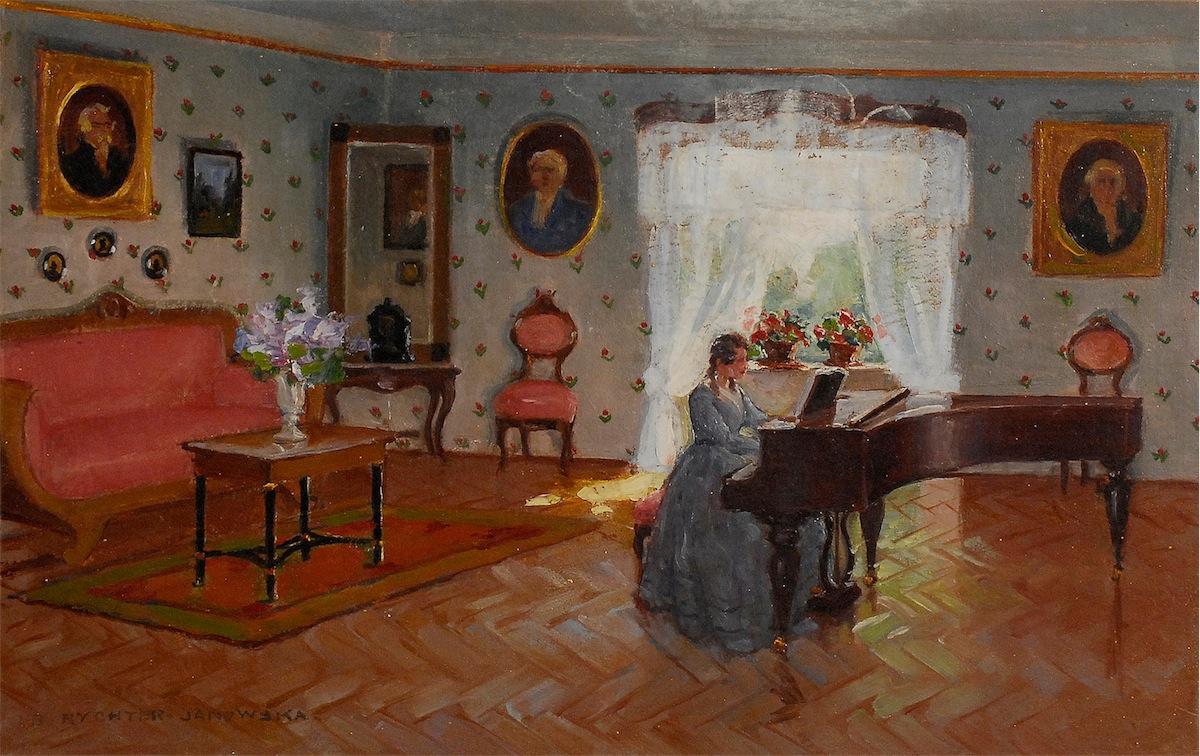 Kobieta przy fortepianie, ok. 1937
