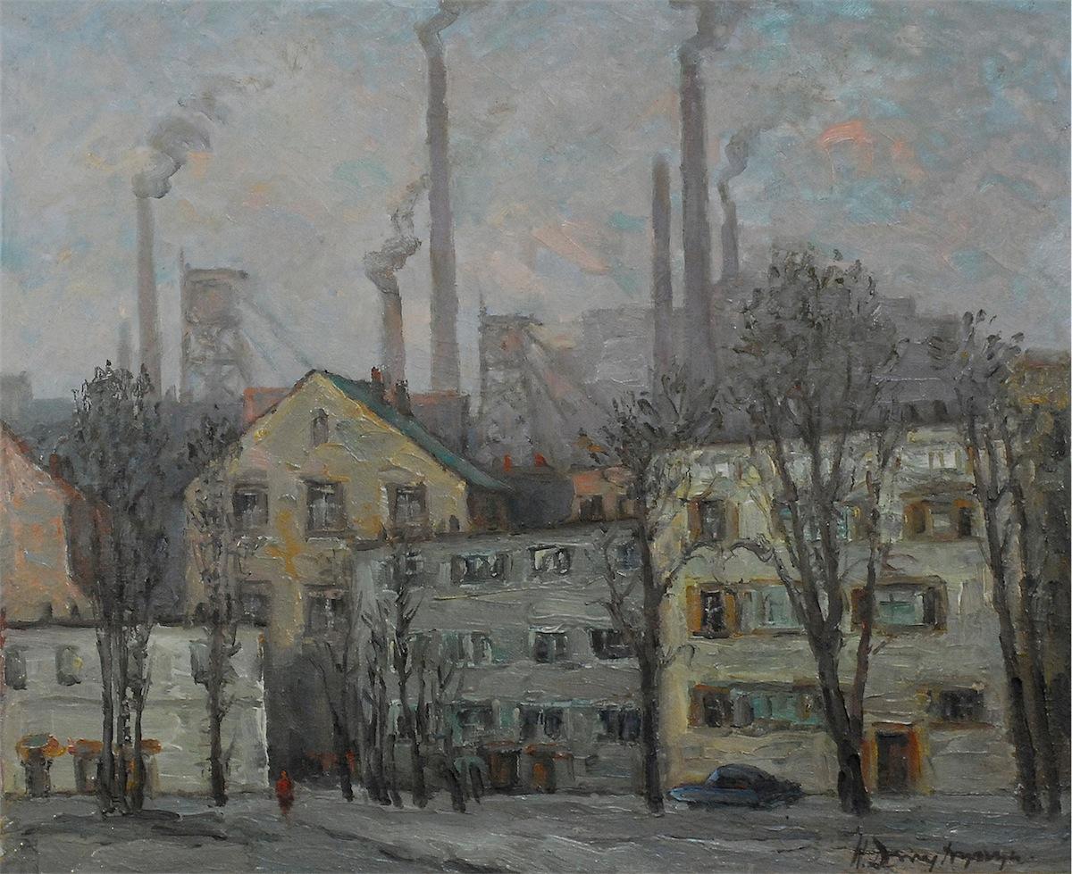 Widok na kopalnię Katowice