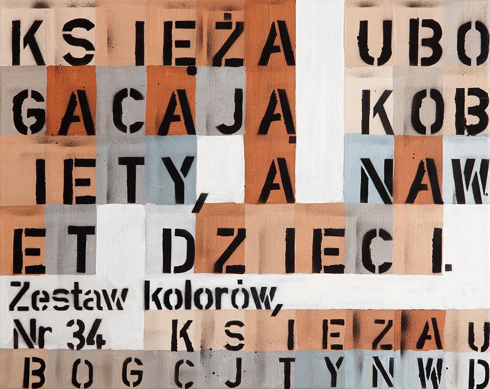 bez tytułu (zestaw kolorów nr 34), 2013