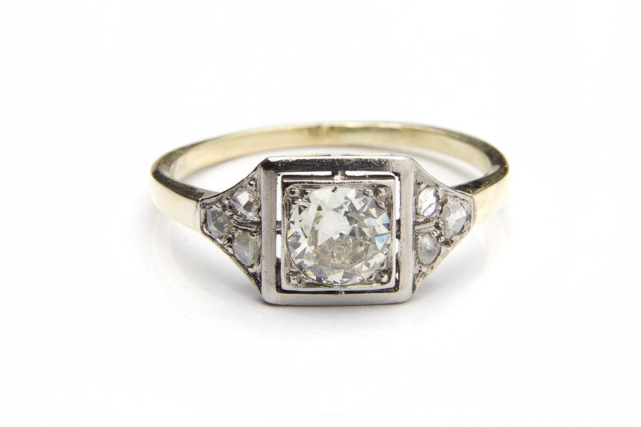 Pierścionek z diamentem, okres międzywojenny