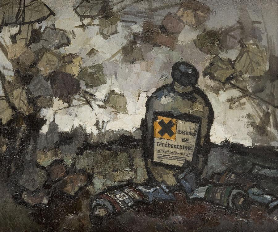 Martwa natura z butelką terpentyny, 1982 r.