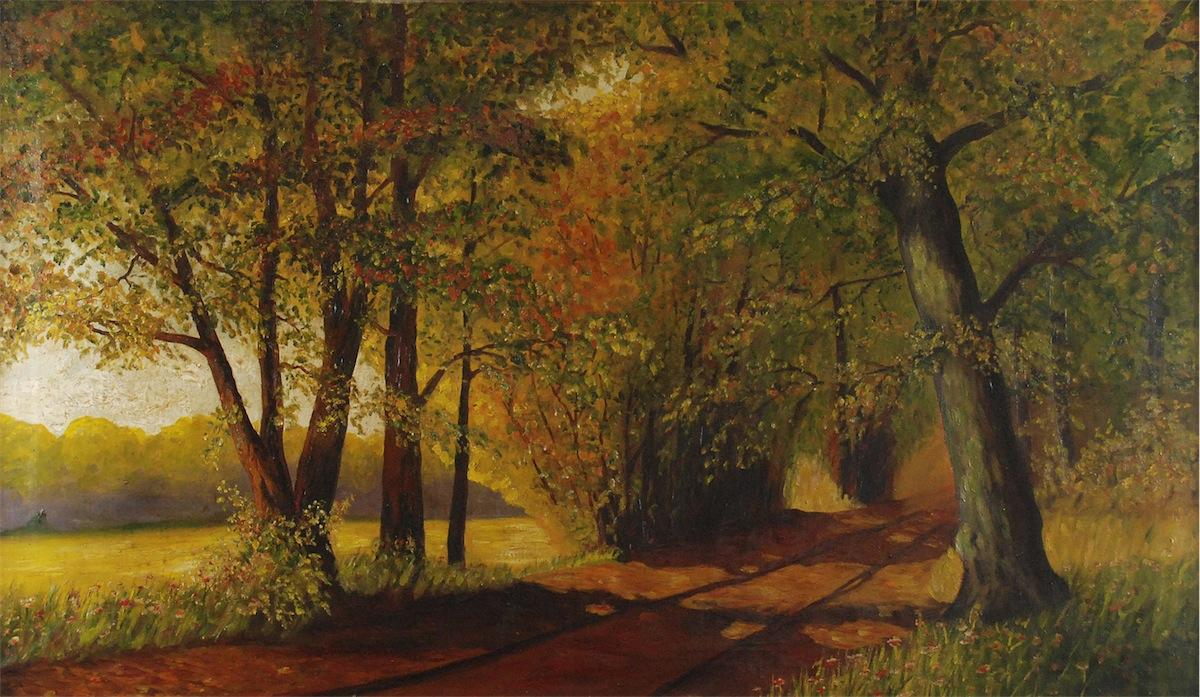 Pejzaż jesienny w parku
