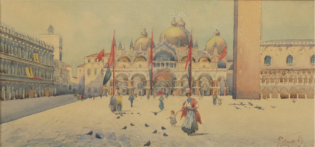 Plac św. Marka w Wenecji z widokiem na Bazylikę