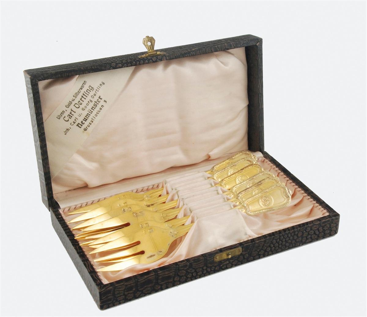 6 widelczyków deserowych w pudełku