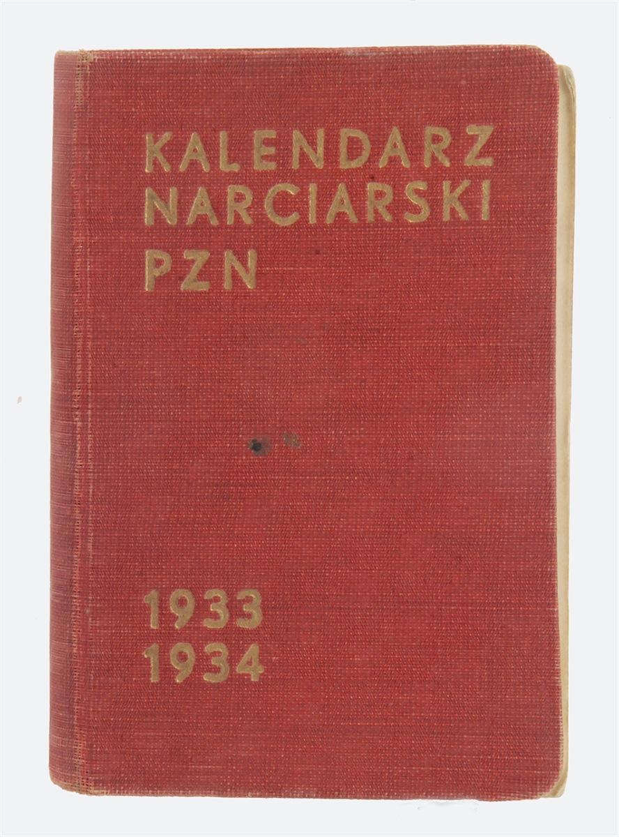 Kalendarz narciarski PZN na sezon 1933 - 1934.