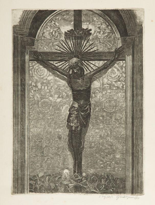 Krucyfiks królowej Jadwigi na Wawelu, 1954 r.