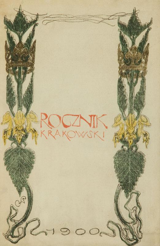 Strona tytułowa czasopisma Rocznik Krakowski, 1900 r.